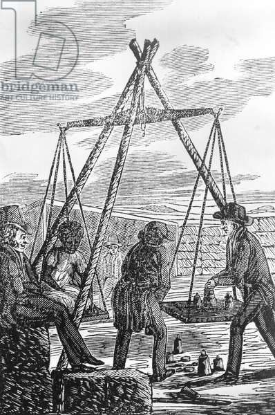 "Picture of Slavery by G. Bourne, 1834 : Engraving from """"Picture of Slavery"""" by G. Bourne, 1834 ©Encyclopaedia Britannica/UIG/Leemage"