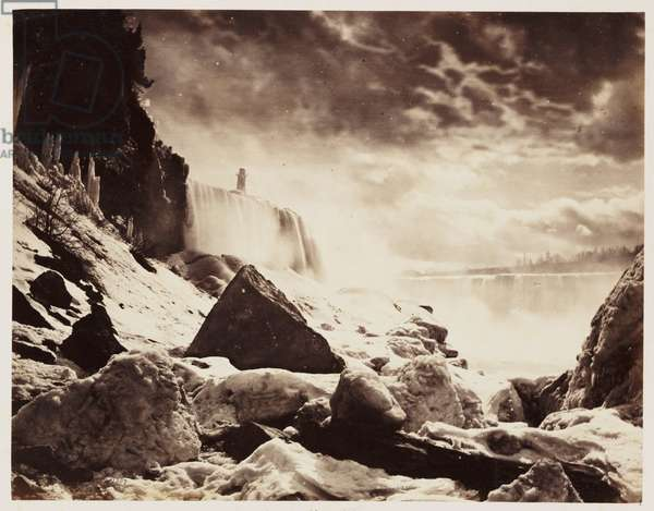 Horse Shoe Falls', 1860 A photograph of the Horse Shoe Falls or Canadian Falls, forming part of Niagara Falls, taken by William McFarlane Notman (1826-1891) in 1860, during the Royal Visit to Canada of Albert, Prince of Wales, the future Edward VII (1841-1910)