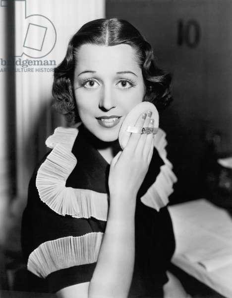 Frances Drake Makeup Tip (b/w photo)