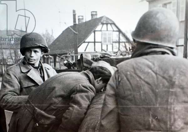 American soldiers in Alsace Lorraine during the drive to liberate the French region from German control 1944