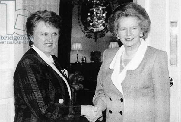 Margaret Thatcher And Kazimira Prunskiene During Negotiations
