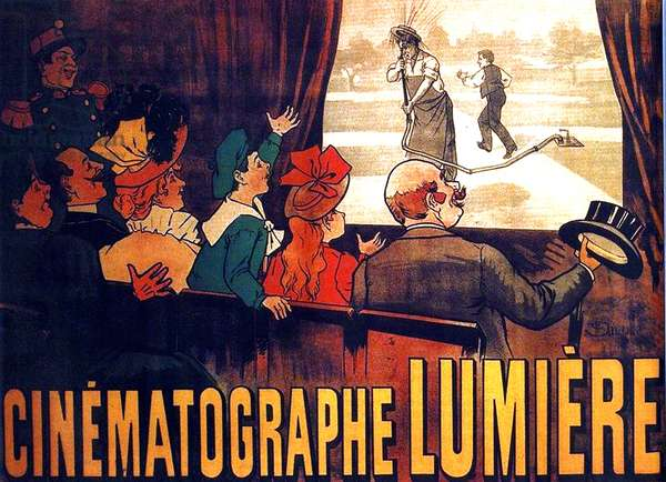 Early film poster for l'Arroseur Arrose screened by the Lumiere Brothers circa 1895.