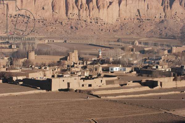 Panoramic View of the Town of Bamiyan, Bamian Province, Afghanistan (photo)