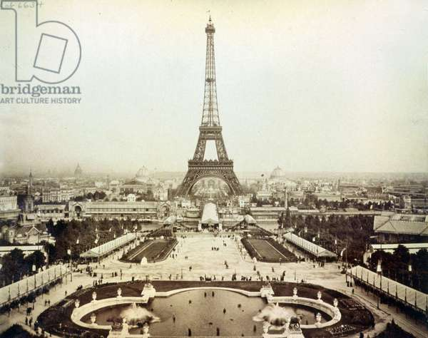 Eiffel Tower and Champ de Mars, 1889