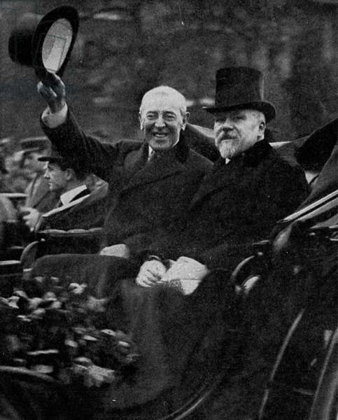Woodrow Wilson and Raymond Poincare