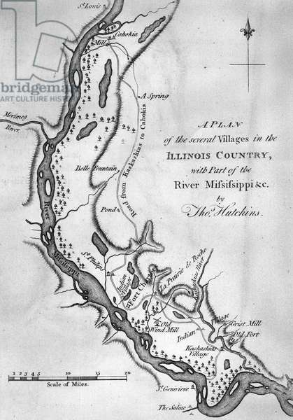 Plan of several villages in the Illinois Country