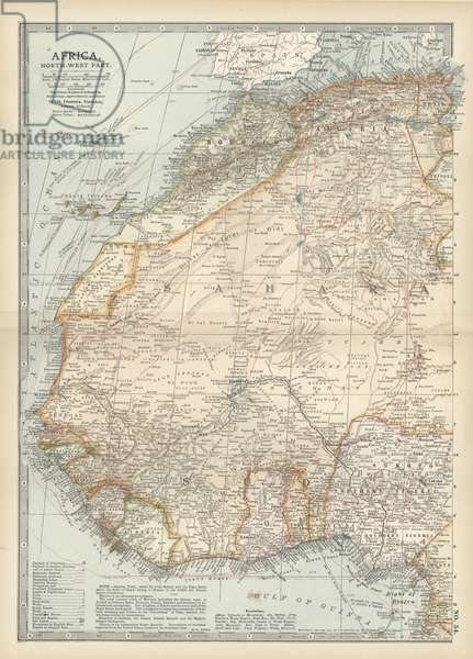 Map of northwestern Africa