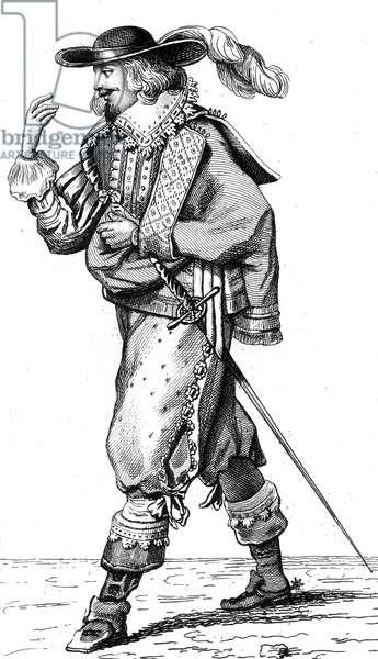 French vintage clothes XVI century Luis kingdom XIII, King of France and Navarre, Louis XIII, Louis De Bourbon