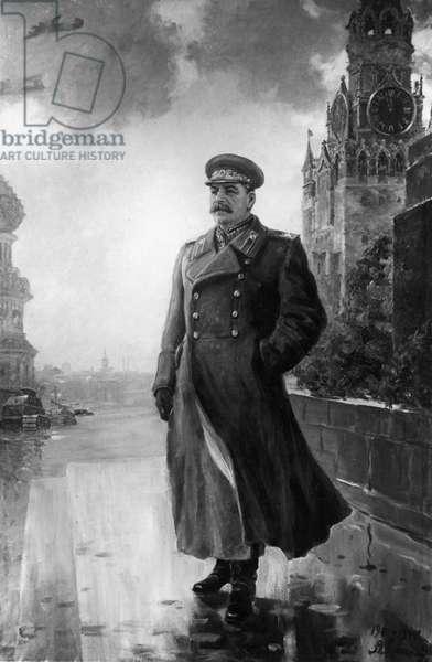Portrait of Joseph Stalin, Oil Painting by Alexander Gerasimov, 1944.