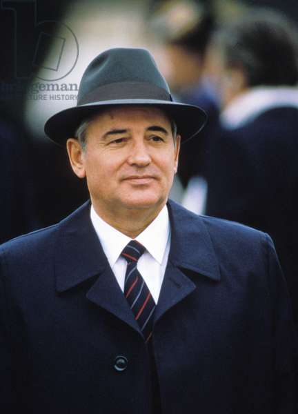 Mikhail Gorbachev in Geneva, Switzerland, November 1985.