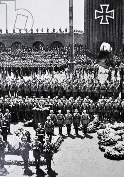 Funeral of German President Paul Von Hindenburg 1934