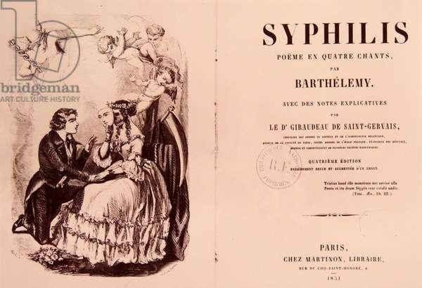 Syphilis : poëme en quatre chants (1851)