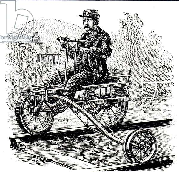 A velocipede used on the railways round Lake Michigan
