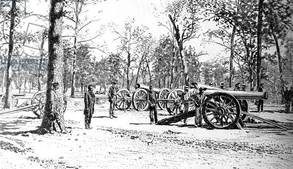 American Civil War-Shiloh, the siege battery above the landing that was a part of the last line in the first day ' s of battle