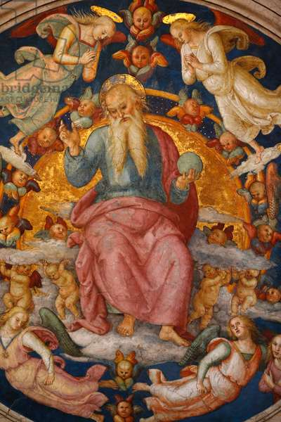 God the creator, Detail of the celling, Room of the Fire in the Borgo, Vatican Museum, (photo)