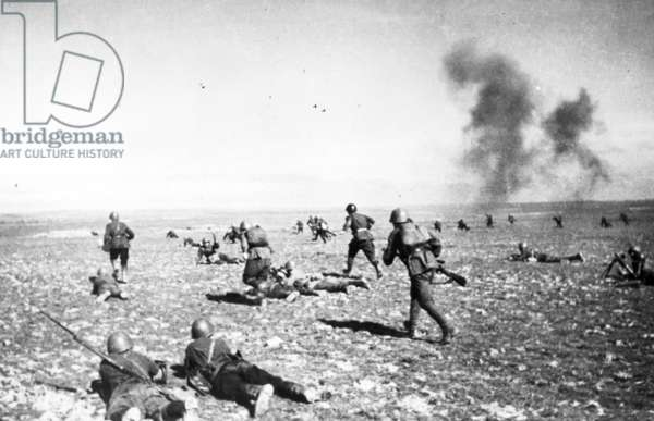 Red Army Infantry Attacking in the Stalingrad Area During World War Ll.