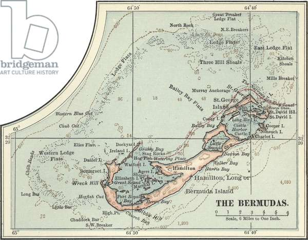 Map of the Bermudas