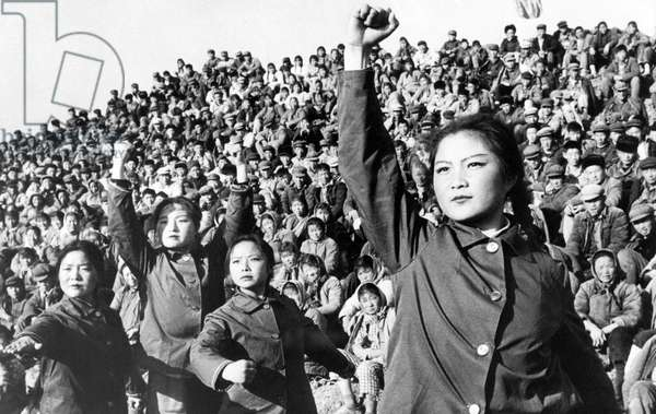 Chinese red guards during the cultural revolution