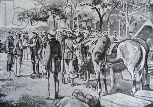 Engraving depicting the first Carlist uprising of the Carlist Wars