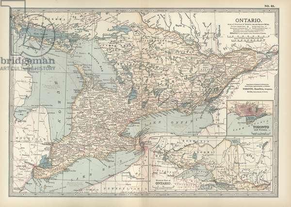 Map of Ontario, Canada