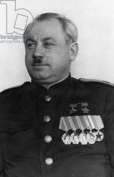 Rear Admiral Ivan Pananin, Chief Administrator of the Northern Sea Route, 1944, World War 2, USSR, Famous Leader of 1930s Soviet Polar Expeditions.