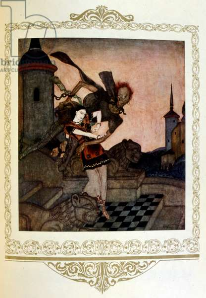 Illustration 'the captive princess. Serbia' by Dulac.