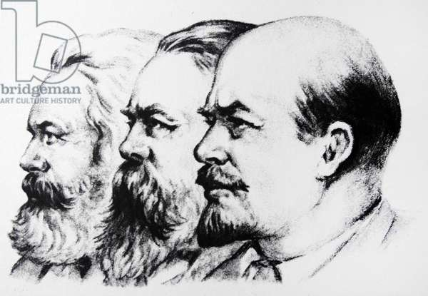Left to Right Karl Marx Friedrich Engels Vladimir Lenin