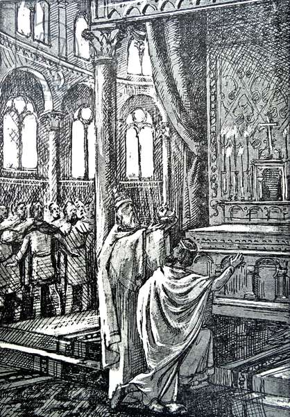 Charles the Great crowned by the Pope