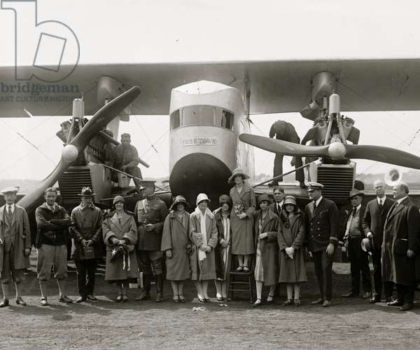 Christening of Sikorsky plane, 5/8/25 1925 (photo)