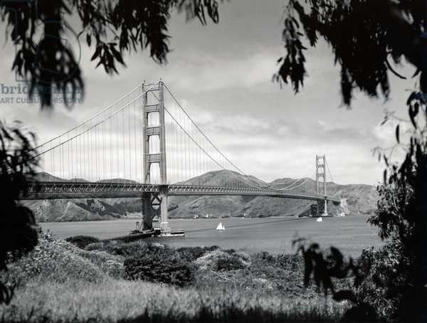 Golden Gate Bridge, San Francisco, California, May,  1937 (b/w photo)