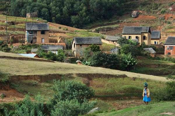 Traditional Houses on the Anjiro Plain, Antananarivo Province, Madagascar (photo)