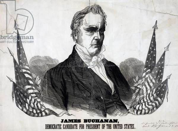 President James Buchanan, 1856