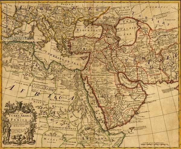 Middle East Arabia, Persia, 1721