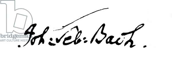Signature of Elias Gottlob Haussmann