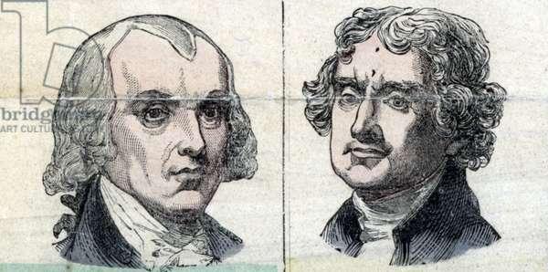 Thomas Jefferson and James madison, 1876