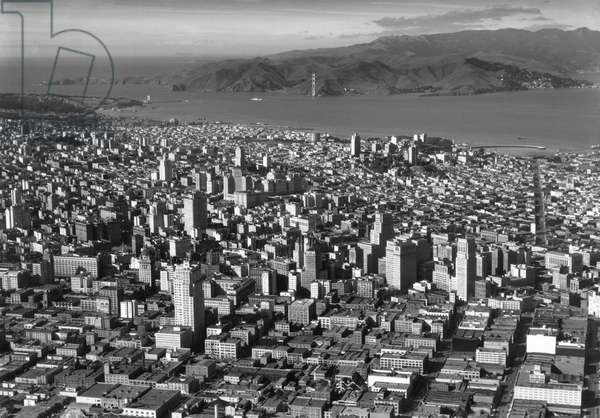 San Francisco And Golden Gate, 1934 (b/w photo)