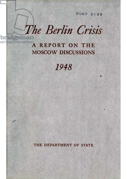 US department of State report on the Berlin Blockade