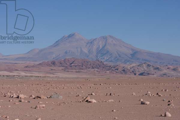 Atacama Desert With The Andes Cordillera In The Background (photo)