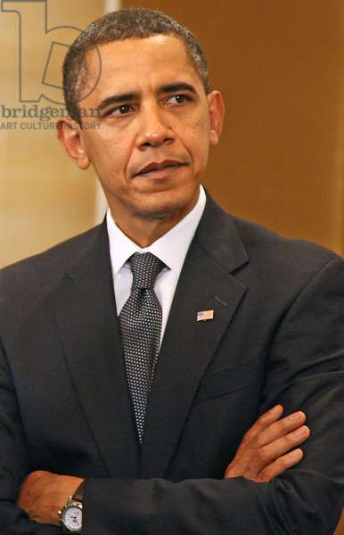 Barack Obama Before A Meeting With Dmitry Medvedev For Apec Summit