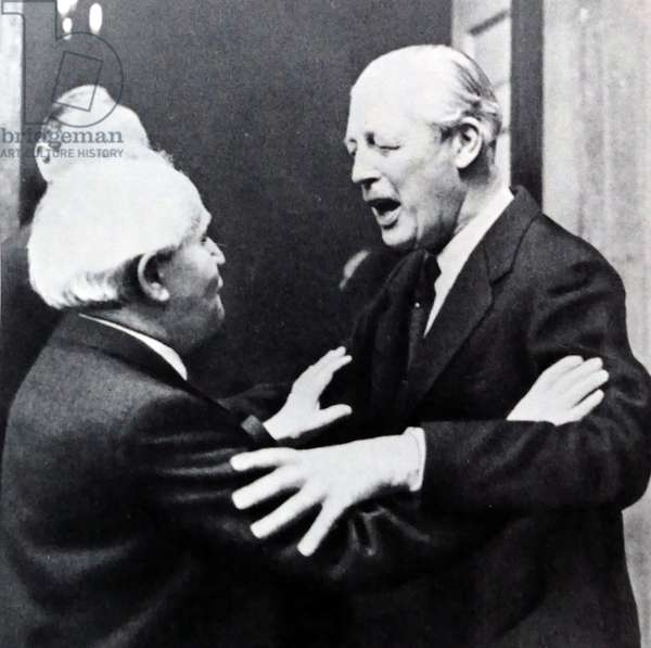 Meeting between the British Prime Minister Harold MacMillan and Israeli leader David Ben Gurion