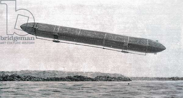 The Zeppelin airship on Lake Constance