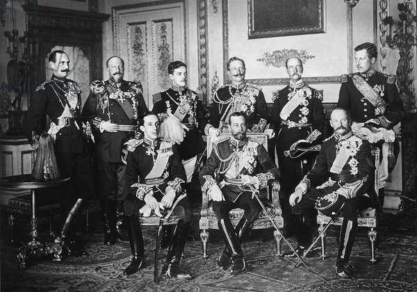 Sovereign Funeral, Kings, Emperors & Tsars Attending (b/w photo)