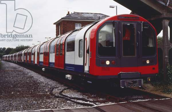 London underground train.
