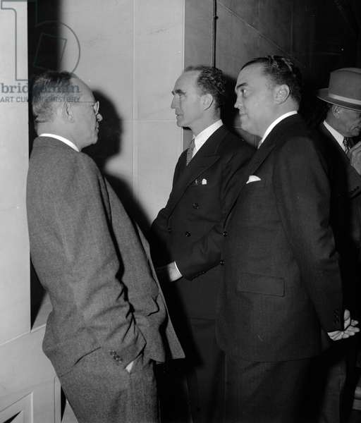 Attorney General and FBI head arrive at U.S. Attorneys Conference. Washington, D.C., April 19 19390101.