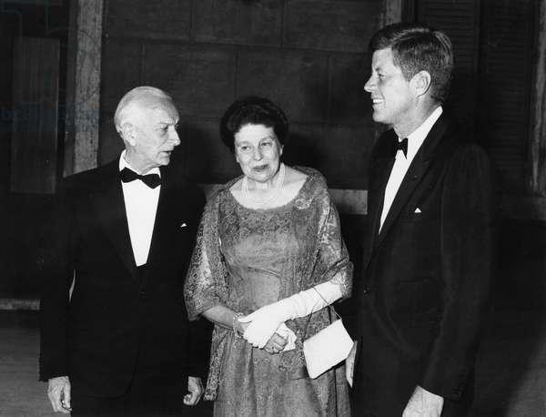 John Fitzgerald Kennedy with president Antonio Segni. 1963.