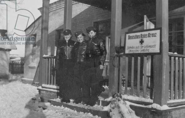 Nurses of the German Red Cross, 1942 (b/w photo)