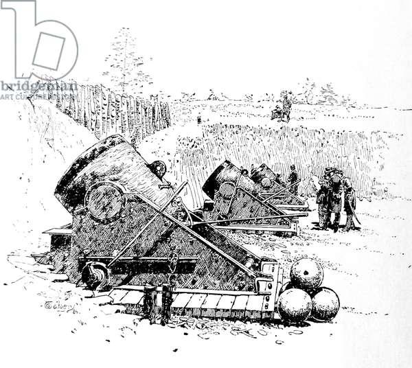 American Civil war-1861 1865 Federal mortar battery before Yorktown