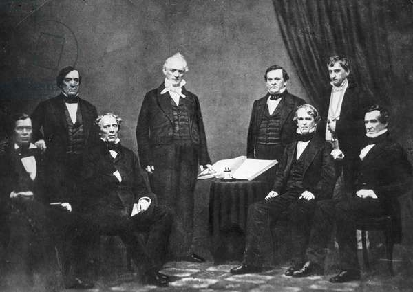 James Buchanan with his cabinet : President James Buchanan and his Cabinet, 1856 ©Encyclopaedia Britannica/UIG/Leemage