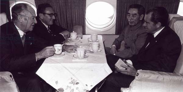Chinese premier Zhou Enlai and US President Richard Nixon