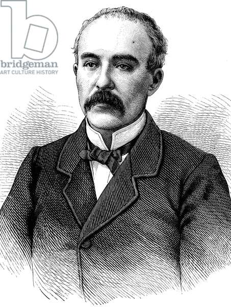 Georges Clemenceau, 1841-1929, French statesman, historical illustration, circa 1886 ©UIG/Leemage